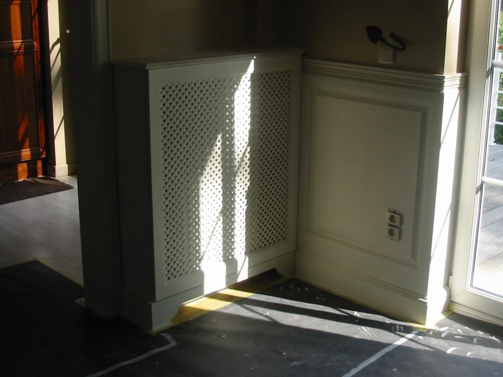Lambrizering, radiatorbekleding en kasten